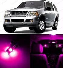 12 x Ultra Pink LED Interior & Plate Lights Package For 2002-2005 Ford Explorer