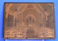 More details for vintage copper negative photographic printing plate, church, 4x3