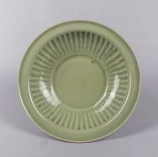 Korean Old Celadon Glazed Lotus Porcelain Plate
