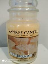 YANKEE CANDLE 'BUTTERCREAM' LARGE JAR - DEERFIELD - HARD TO FIND