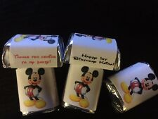 90 Personalized Mickey Mouse 1st 2nd Birthday Party Candy Wrappers Nugget favors