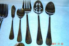 44 pc SET International stainless flatware SIMPLICITY for 8 Nice glossy set !!