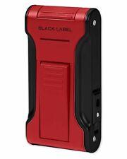 Black Label LBL80060 Dictator Flat Flame Cigar Lighter Metallic Red Black