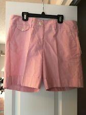 Jennifer & Grace Womens Seersucker Tang Stripe Shorts Size 14 New w/tag MSRP $39
