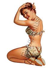 Sexy Pinup Girl Waterslide Decal Sticker Sexy Retro Bikini Old School Style S742