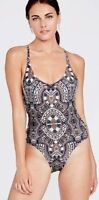 Rachel Roy Size XL 14 Tribal Laced Side One Piece Mio Maillot Swimsuit NWT $120