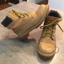 Timberland 12909 Premium Waterproof Boots Youth Size 5 Wheat Nubuck