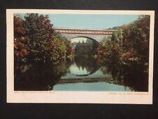 Antique POSTCARD c1905-07 Echo Bridge NEWTON, MA Massachusetts (20190)
