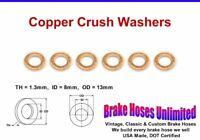 COPPER CRUSH WASHERS - 8mm ID