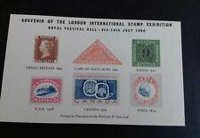 Leaf memories souvenir 1960 london stamp exhibition