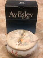 "VINTAGE Aynsley Bone China ENGLAND Covered  DISH ""SOMERSET"" PATTERN 4x1.75"""
