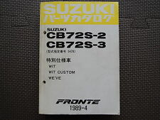 JDM SUZUKI FRONTE CB72S Original Genuine Parts List Catalog Japanese Kei Car