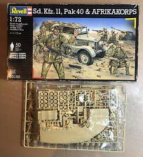 REVELL 03150 - Sd.Kfz.11, Pak 40 & AFRIKAKORPS - 1/72 PLASTIC KIT NUOVO
