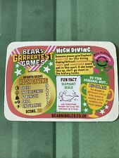 YoYo Bear Gold Card Greatest Games Number 6/50 High Diving