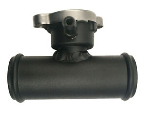 Aluminum Universal 38mm 1-1/2'' In-Line Radiator Hose Filler Neck With 1 Cap BK