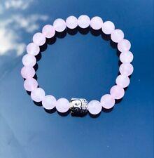 Buddha Natural Rose Quartz Love Compassion Gemstone Healing Chakra Om Heart