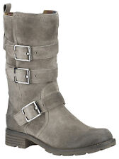 NEW Clarks PLUS Womens Leather boots Suede NATIONAL SUGAR Mid Calf Biker boots