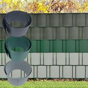 HART PVC Sichtschutzstreifen für Doppelstabmattenzaun Gittermatten Sichtschutz ⭕