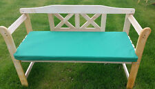 Outdoor Waterproof 2 Seater Bench / Swing Seat Cushion Only Garden Furniture Pad Green