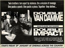 1/2/92Pgn25 Advert: On Screen Jean-claude Van Damme In double Impact 7x11