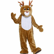 Forum Deluxe Plush Mascot Reindeer Costume One Size - Cute Christmas Costume