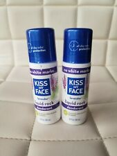 Lot of 2 Kiss My Face Liquid Rock Roll On Deodorant Lavender Scent 3 oz Vegan