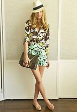 Zara Floral Cotton High Rise Shorts for Women