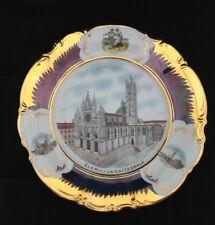 Vintage HUTSCHENREUTHER Sienna La Cattedrale SOUVENIR PLATE