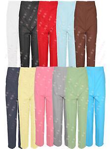 smart work trousers womens elastic waist work trousers ladies black work T47