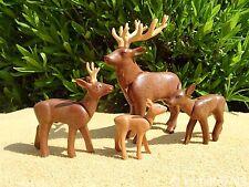 Playmobil GRUPO DE CIERVO Plástico Figura de juguete Paquete de Animales Salvajes Ciervo Cervatillo Y004
