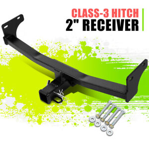 """2""""Class-3 Tow Hitch Receiver Glossy Black Assembly for Patriot Compass 11-17"""