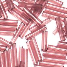 Perles de Rocailles Tubes en verre Transparent 9x2mm Améthyste 20g