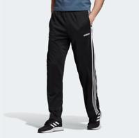 Adidas Track Pants Mens Small Authentic Black Essential 3 Stripes Straight Leg