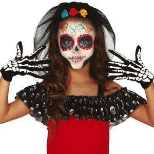 Pair of Child Size Skeleton Gloves Halloween Fancy Dress Accessory
