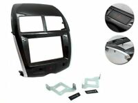 Mascherina kit monitor Doppio 2 DIN Mitsubishi ASX full con circuito e etichette