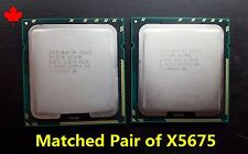 Matched Pair of Intel Xeon X5675 SLBYL 3.06GHz Six Core CPU Processor