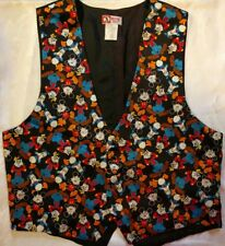 Disney Mickey Inc Mens silk vest S M 40 42 Small Medium Mickey Donald Goofy