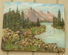 CALIFORNIA LANDSCAPE OIL ON CANVAS PAINTING SIGNED TRULA #2