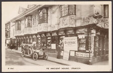 More details for ipswich. the ancient house aka sparrowe's house with glorious old car. 1909 rppc