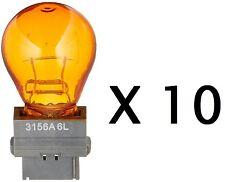 (TEN BULB PACK) - Eiko 3156A 12.8V 2.1A S-8 Polymer Wedge Base Halogen Bulbs