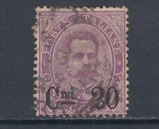 Italy Sc 66 used 1890 20c on 50c violet top value to set