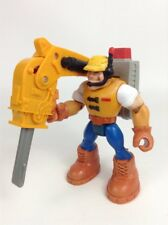 Fisher Price Rescue Heroes Construction Worker Toy Action Figure w/ Tool