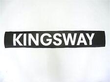 Vintage 1987 screen printed West Bromwich Bus destination blind Kingsway