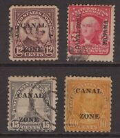 USA stamp group overprinted CANAL ZONE, PANAMA etc