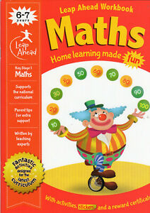 Math Activity Practice Book Leap Ahead Workbook Age 6-7