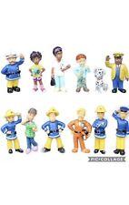 12 PCS Fireman Sam Elvis Penny Action Figures Set Figurine Playset Toys