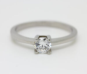 Lab Diamond Solitaire Engagement Ring In Titanium