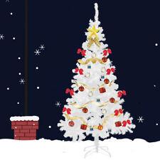 4 5 6 7 White Christmas Tree Artificial Unlit