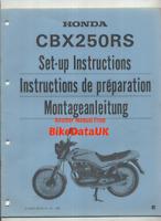 Honda CBX250RS (1984 >>) Genuine Factory PDI Set-Up Manual MC10 CBX 250 RS CH03