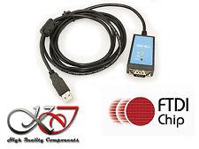 Convertisseur RS232 vers USB avec antiparasite - Longueur 1.8M - CHIPSET FTDI